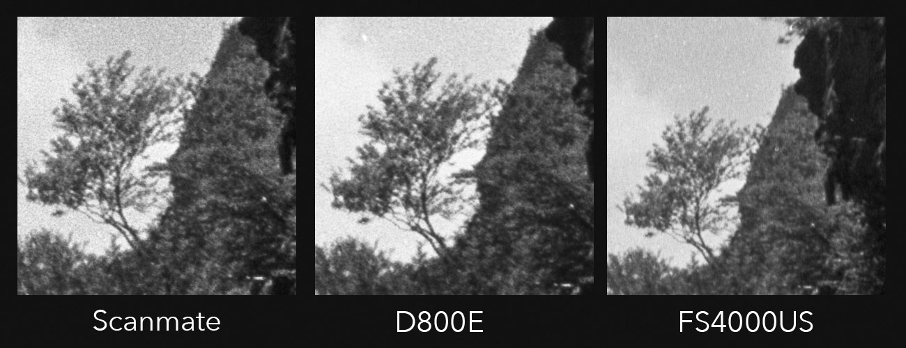 Most of the same comments from the other film hold true for this as well i dont see a whole lot of difference in the amount of detail each scanning method